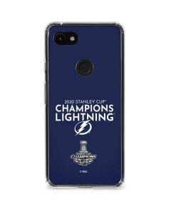 2020 Stanley Cup Champions Lightning Google Pixel 3a XL Clear Case