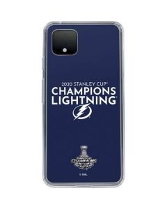 2020 Stanley Cup Champions Lightning Google Pixel 4 XL Clear Case