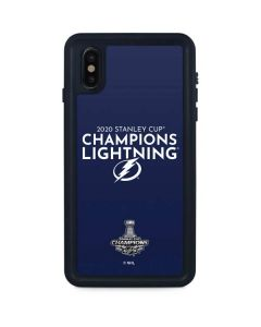 2020 Stanley Cup Champions Lightning iPhone XS Max Waterproof Case