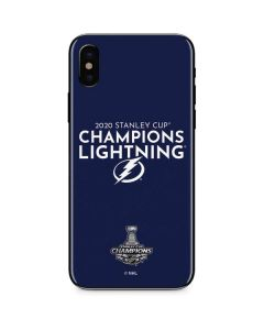 2020 Stanley Cup Champions Lightning iPhone XS Skin