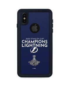2020 Stanley Cup Champions Lightning iPhone XS Waterproof Case