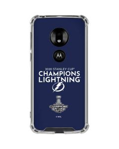 2020 Stanley Cup Champions Lightning Moto G7 Play Clear Case