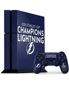 2020 Stanley Cup Champions Lightning PS4 Console and Controller Bundle Skin