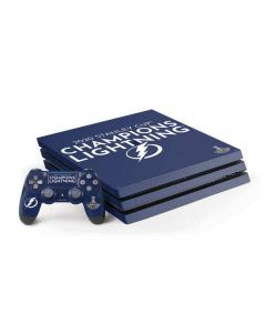 2020 Stanley Cup Champions Lightning PS4 Pro Bundle Skin