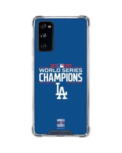2020 World Series Champions LA Dodgers Galaxy S20 FE Clear Case