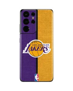 Los Angeles Lakers Canvas Galaxy S21 Ultra 5G Skin