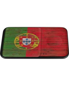 Portuguese Flag Dark Wood Wireless Charger Duo Skin