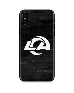 Los Angeles Rams Black & White iPhone XS Skin