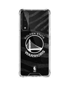 Golden State Warriors Black Animal Print LG Stylo 7 5G Clear Case