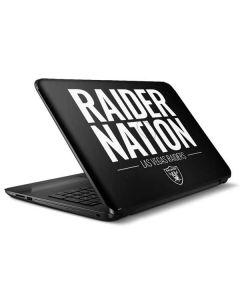 Las Vegas Raiders Team Motto HP Notebook Skin