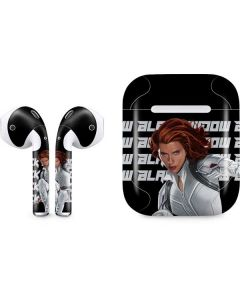 Black Widow Bold Apple AirPods Skin