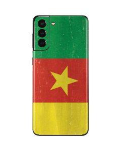 Cameroon Flag Distressed Galaxy S21 Plus 5G Skin