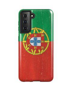 Portugal Flag Distressed Galaxy S21 5G Case