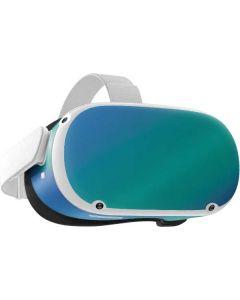 Aqua Blue Chameleon Oculus Quest 2 Skin