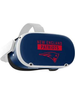 New England Patriots Blue Performance Series Oculus Quest 2 Skin