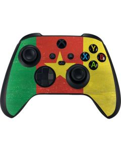 Cameroon Flag Distressed Xbox Series X Controller Skin
