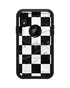Checkered Marble Otterbox Defender iPhone Skin