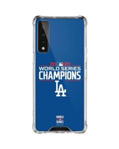 2020 World Series Champions LA Dodgers LG Stylo 7 5G Clear Case