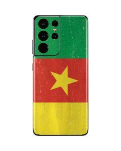 Cameroon Flag Distressed Galaxy S21 Ultra 5G Skin