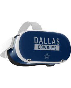 Dallas Cowboys Blue Performance Series Oculus Quest 2 Skin