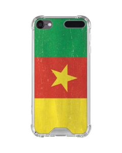Cameroon Flag Distressed iPod Touch (5th-6th-7th Gen) Clear Case