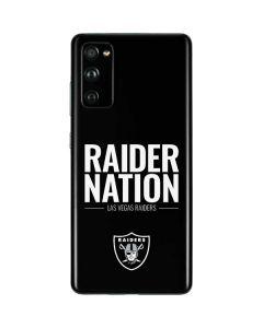 Las Vegas Raiders Team Motto Galaxy S20 Fan Edition Skin
