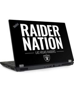 Las Vegas Raiders Team Motto Lenovo ThinkPad Skin