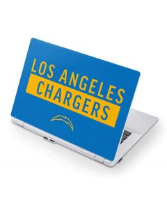 Los Angeles Chargers Blue Performance Series Acer Chromebook Skin