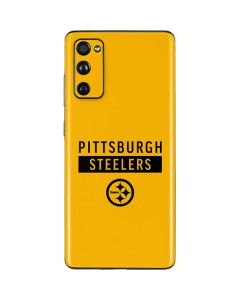 Pittsburgh Steelers Yellow Performance Series Galaxy S20 Fan Edition Skin