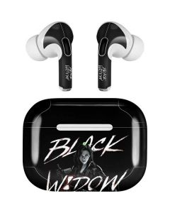 Black and White Black Widow Apple AirPods Pro Skin