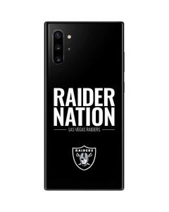 Las Vegas Raiders Team Motto Galaxy Note 10 Plus Skin