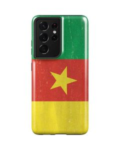 Cameroon Flag Distressed Galaxy S21 Ultra 5G Case