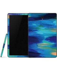Ocean Blue Brush Stroke Samsung Galaxy Tab Skin