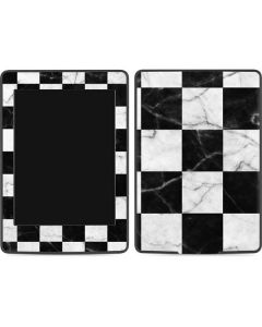 Checkered Marble Amazon Kindle Skin