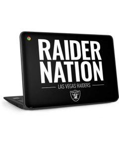 Las Vegas Raiders Team Motto HP Chromebook Skin