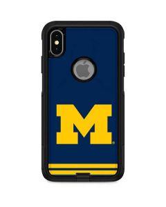 Michigan Logo Striped Otterbox Commuter iPhone Skin