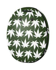 Marijuana Leaf White Pattern MED-EL Rondo 3 Skin