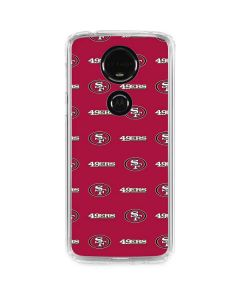 San Francisco 49ers Blitz Series Moto E5 Plus Clear Case