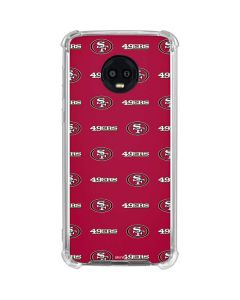 San Francisco 49ers Blitz Series Moto G6 Clear Case