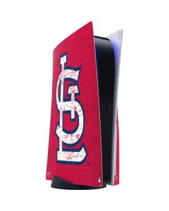 St. Louis Cardinals - Solid Distressed PS5 Console Skin