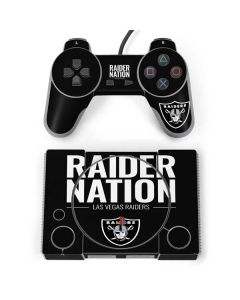 Las Vegas Raiders Team Motto PlayStation Classic Bundle Skin