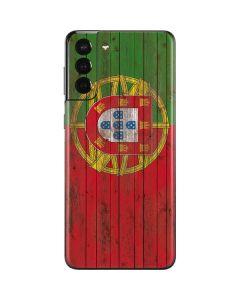 Portuguese Flag Dark Wood Galaxy S21 Plus 5G Skin