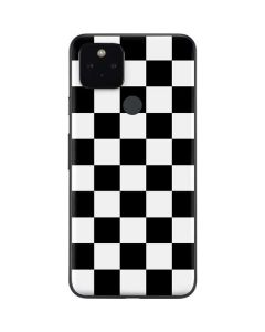 Black and White Checkered Google Pixel 4a 5G Skin
