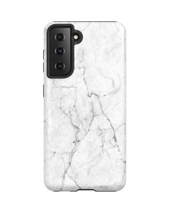 White Marble Galaxy S21 5G Case