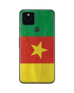 Cameroon Flag Distressed Google Pixel 4a 5G Skin