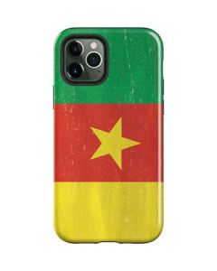 Cameroon Flag Distressed iPhone 12 Pro Case