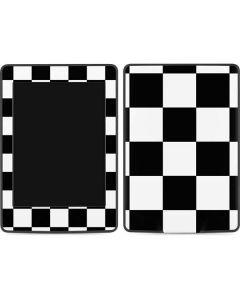 Black and White Checkered Amazon Kindle Skin