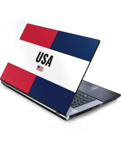 American Flag Color Block Generic Laptop Skin