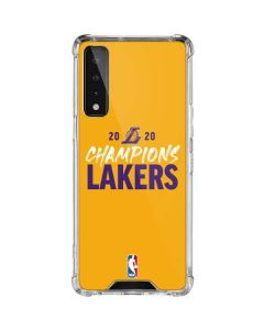 2020 Champions Lakers LG Stylo 7 5G Clear Case