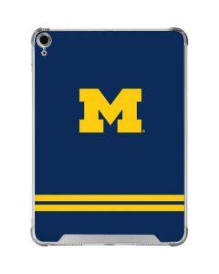 Michigan Logo Striped iPad Air 10.9in (2020) Clear Case
